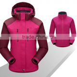 Woman interchange 3 in 1 jacket with nylon shell outer and fleece jacket inner, woman clothing
