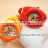 pretty girl photograph dial red and orange plastic hologram wristwatch made in China watch factory