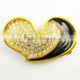 Decorative metal heart shaped shoe and belt quick release buckle