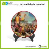 Wholesale round plate table decor craft antique catholic religious items