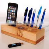 Mobile Phone Dock and Pen Holder with extra USB Stands unique desk and office accessory Stand