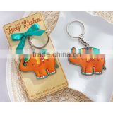 wedding favor gift and giveaways for guest--Lucky Elephant Key Ring