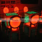 wood acrylic stackable led light event rental party bar chair furniture outdoor dance chair