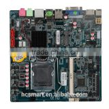 LGA1150 6com lvds mini pc itx motherboard 1 LAN DC 1 lan 12V with SIM slot