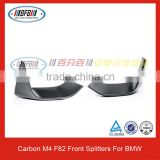 For BMW M series F82 M4 Carbon Fiber Apron Auto Front Bumper Splitters