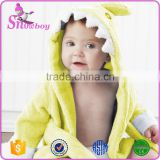 Wholesale Cute Animal Baby Robe Hooded Baby Bathrobe Spa Robe Animal Baby Towel Cotton Bathrobe, 0-2 years old