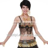 Belly Dance Bra Top, New Sexy Arab Tribal Belly Dance Top Bra, Performance Beads Top for Lady Dancer (SZ008)                                                                         Quality Choice