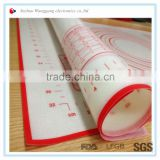 Silicone baking and kneading dough mat for kitchen use