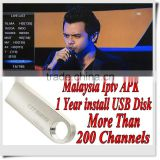128M USB Malaysia Sports channels with 1/3/6/12 months Iptv Malaysia apk account HDTV MyIptv Free Shipping