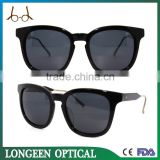 Hot Sale Custom Branded Black Sunglasses With Metal Temple