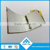 factory price custom design printed paper file folder with full color, file folder with ring/lock