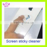 Cute promotional sticker mobile adhesive screen cleaner