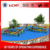 Multiplayer colorful braided rope nets outdoor playground, children outdoor playground equipment