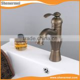 Custom Product Antique brass single handle wash basin tap
