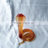 lead crystal animal theme cobra snake ornament for home or office decoration