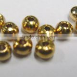 5.0 mm Fly Tying Materials Barrel Polished Tackle Brass Beads