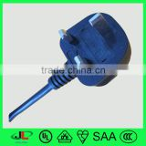 13A moulded UK BS 3 pin plug CE approval 3 pin power plug European AC male plug with fuse