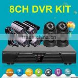 surveillance camera 8ch 720p cvi camera kit HDMI 1 Mp 4 indoor dome and 4 outdoor bullet CCTV security cctv system