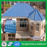 multi color anti corrosive royal discount hand cut glass mosaic synthetic spanish roof tile for house