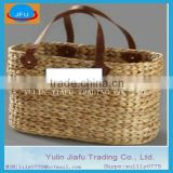Pure handmade hand-woven rectangle water hyacinth home storage basket tote & beach bag