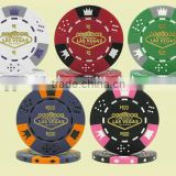 priting machine printed poker chips,clay material,13.5g weightness