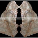 Cheap Lion Figurine Made From Red or White Marble