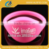 ntag 203 chip colorful closed silicone waterproof RFID wristband/bracelet/watches tag for swimming pool