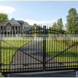 metal Security Gate/ Garden decorative privacy cast aluminium wrought iron fence and gates in stock