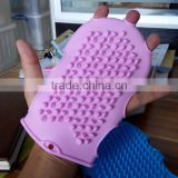 silicone body bath massage glove /collapsible and portable silicone massage bath glove