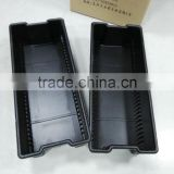 Large thick square anti slip thermoformed plastic flat tray