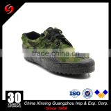 Factory stock price 4.50 USD with ISO certificated rubber outsole canvas military desert boots green