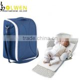 Deluxe folding diaper baby bed carrier bag
