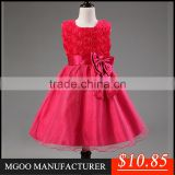 MGOO Alibaba Fashion Wholesale Infant Clothes 2015 Short Pageant Dresses For Girl Tulle Dresses MGT003-4
