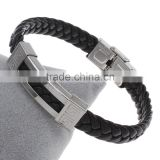 weaving leather charm bracelet leather bracelet women letter pattern PU Cord leather men bracelet