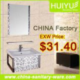 Stainless steel bathroom sink cabinet 2015 new fashional hot selling modern bathroom cabinet