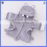 Promotional cheap price and hot selling Animal design Hooded cotton terry bath robe for kids
