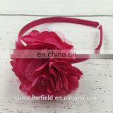 Satin Flower Plastic Headband Layered Flower Plastic Headband Headband For Kids