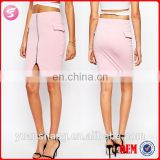 Newest Zip Front Mature Lady Spandex Pencil Skirt, Hot Girls In Pencil Skirt