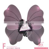 Party supplier custom metal pilot wings pin badge led isis Pink butterfly wings