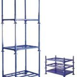 Warehouse stacking steel tire pallet with detachable posts