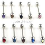 Hot Shining Punk Body Piercing Jewelry Bow Diamond Navel Ring Belly Ring Dangle Body Piercing