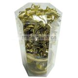 2014 metalic gold ribbon star bow and ribbon for gift packingaging or holiday decoration