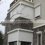Guangzhou remote roller slats window, home deco window, electric window shutters exterior