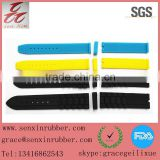 high quality colourful silicone rubber watch strap