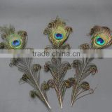 natural peacock feather artificial trim
