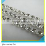 Wholesale Bulk Chain Ss10 3mm Clear Crystal Silver Claw One Row