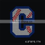 Varsity Baseball Letter C Iron On Rhinestone Transfer Designs