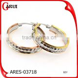 cheap earrings made in china stainless steel jewelry colored hoop earrings                                                                                                         Supplier's Choice
