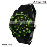 Hot selling custom printed logo silicone watches with cheap summer promotional gifts