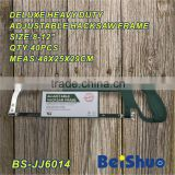 BS-JJ6014 Multifunction 12-Inch/300mm Adjustable Hacksaw Frame and Blade Hand Saw Handy Tool